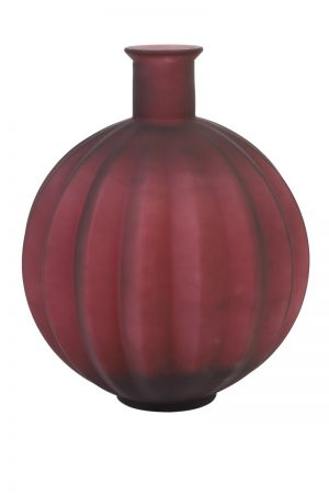 Dark Red Vase Table Lamp