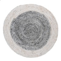 Grey & White Round Seagrass Placemat