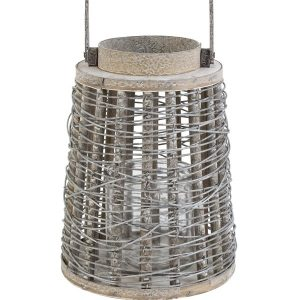 Wooden Lantern with Handle