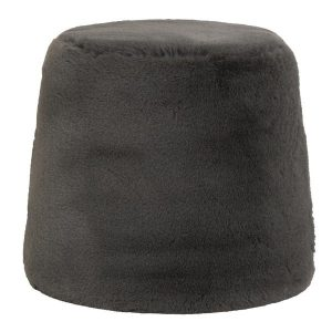 Grey Sheepskin Stool