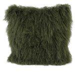 Olive Green Tibetan Cushion