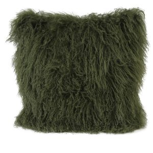 Olive Green Tibetan Cushion