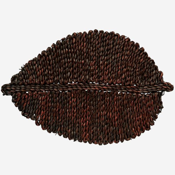 Burnt Orange Seagrass Leaf Placemat