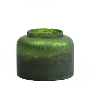 Dark Green Tea Light Holder