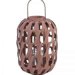 Bamboo Lantern Dusky Pink
