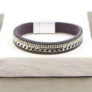 Grey Crystal Magnetic Bracelet