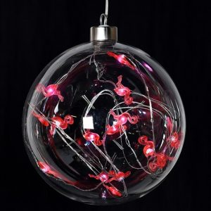 Bauble with Flamingo Lights