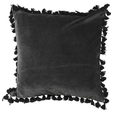 Black Velvet Cushion with Tassels