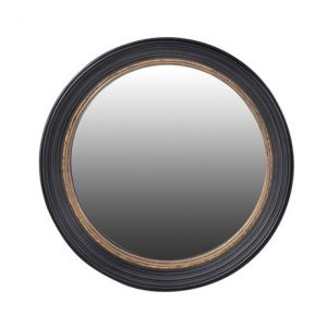 Black Circular Convex Mirror