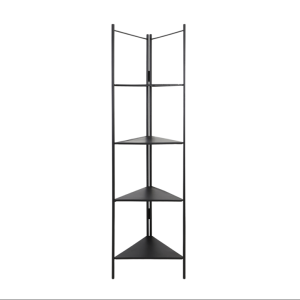 Open Black Corner Shelving Unit