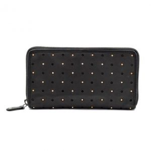 Black Leather Star & Stud Purse