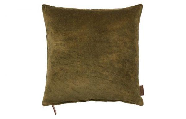 Mustard Square Velvet Cushion