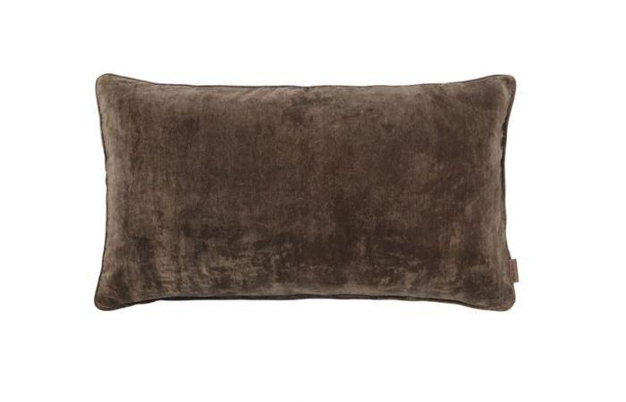 Chestnut Long Velvet Cushion