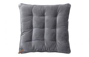 Velvet Seat Pad Cool Grey
