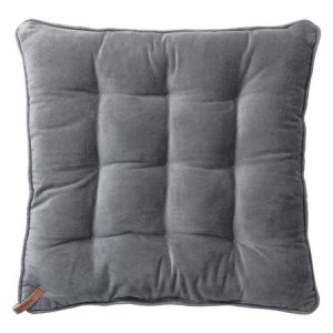 Velvet Seat Pad Cool Grey