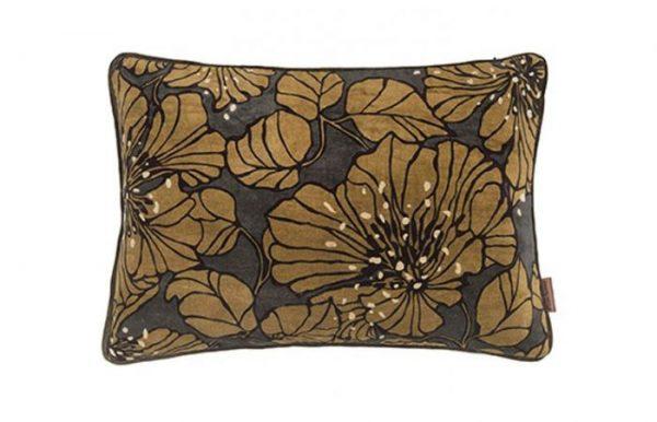 Dahlia Olive Velvet Cushion