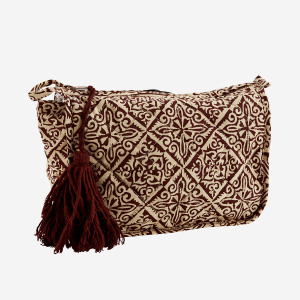 Ruby Printed Toilet Bag with Tassel