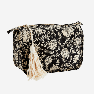 Charcoal Printed Toilet Bag with Tassel