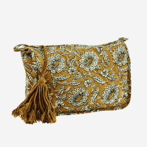 Mustard Toilet Bag with Tassel