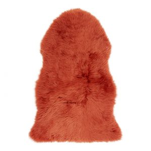 Silky Sheepskin Orange Large