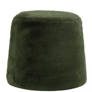 Olive Sheepskin Stool