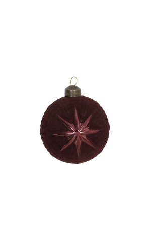 Burgundy Velvet Glass Bauble