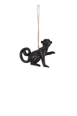 Sparkling Black Monkey Christmas Decoration