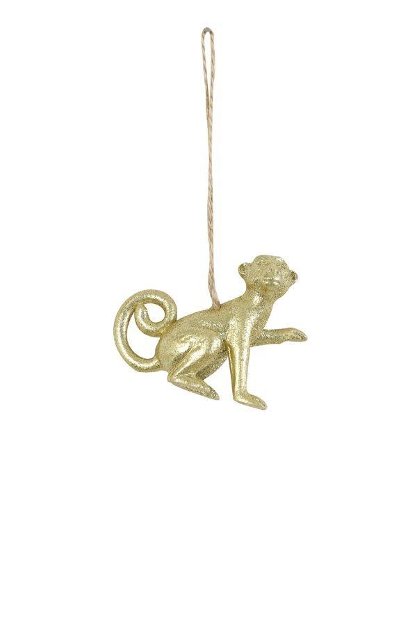 Gold Monkey Christmas Decoration