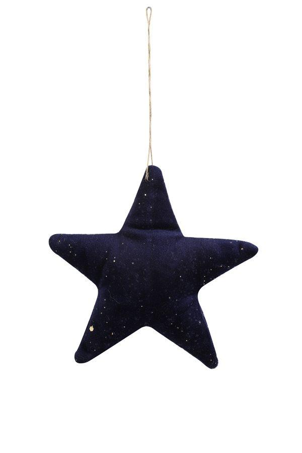 Blue Velvet Hanging Star