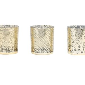 Set of 3 Animal Print Tea Light Holders