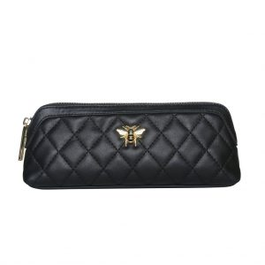 Black Bee Quilted Make-up & Brush Case