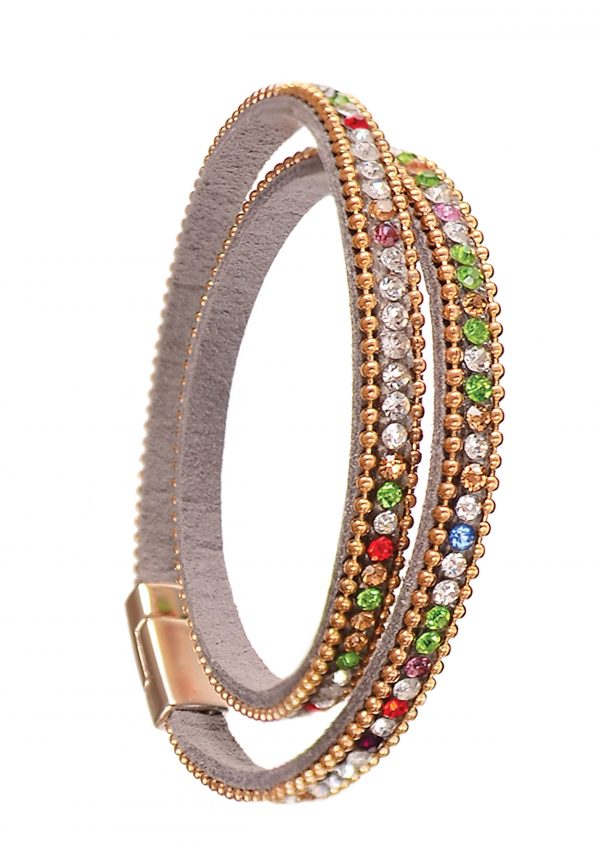 Kaledoscope Crystal Double Wrap Bracelet