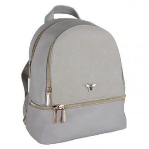 Beige Backpack with Bee