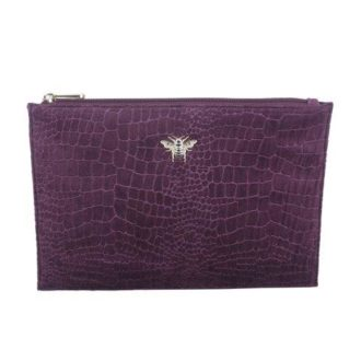 Fig Jewelled Velvet Bee Pouch