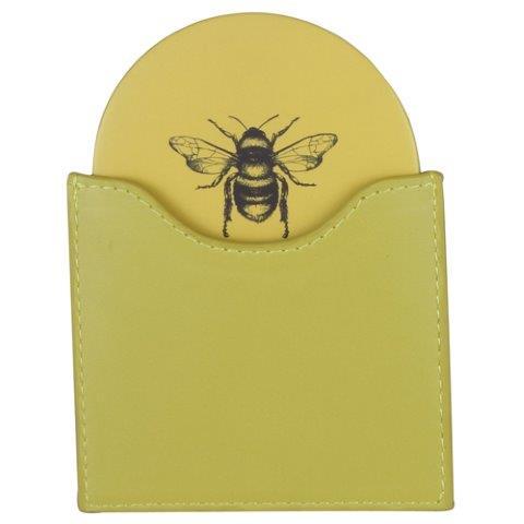 Ochre Bee Handbag Mirror