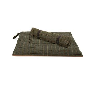 Dark Tweed Travel Dog Bed