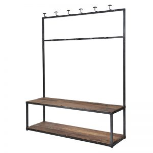 Large School Bench & Coat Rack