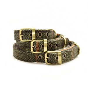 Dark Tweed Dog Collar