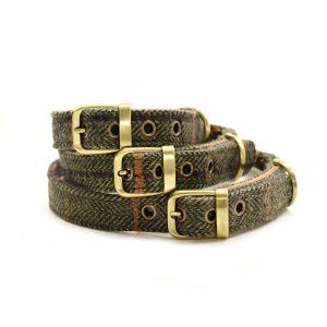 Dark Tweed Dog Collar