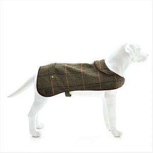 Dark Tweed Dog Coat