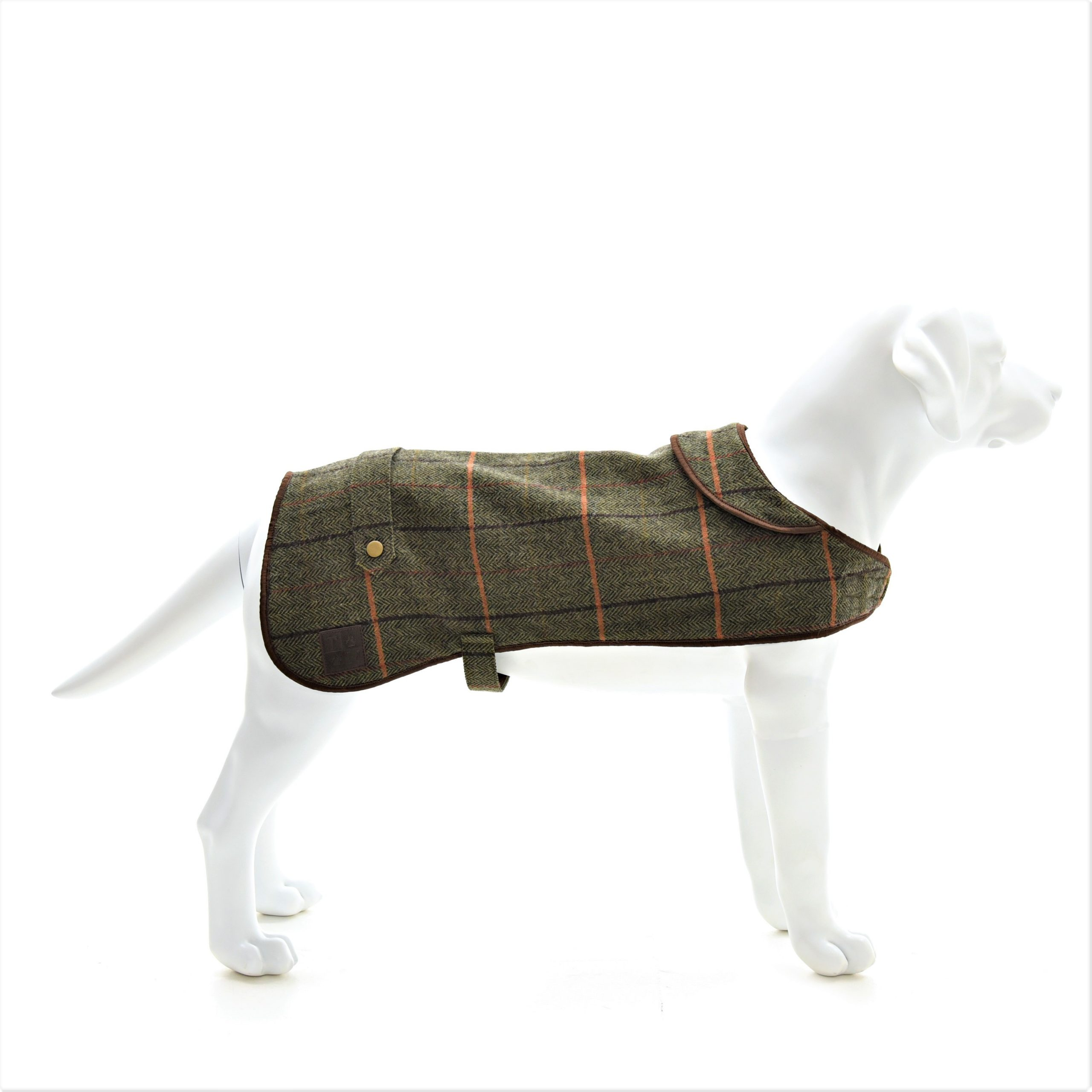 Dark Tweed Dog Coat