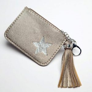 Gold Key Ring Coin Purse