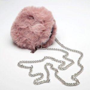 Dusky Pink Faux Fur Bag