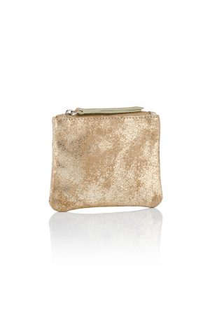 Gold Zip Top Coin Purse