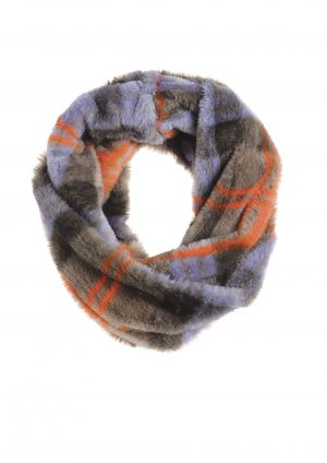 Grey & Lilac Checked Snood