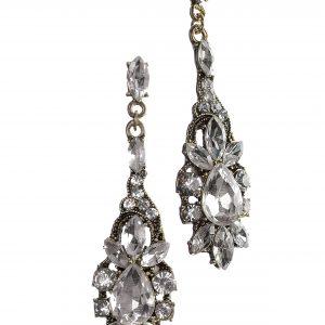 Vintage Drops Clear Crystal Earrings