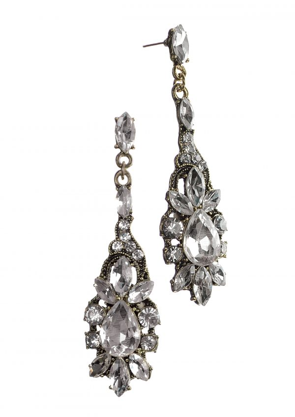 Vintage Drops Clear Crystal Earrings