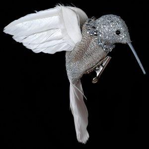 Silver Humming Bird Decoration