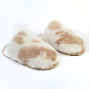 Light Cow Print Slippers