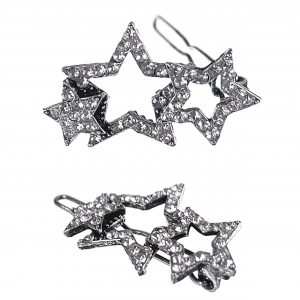 Vintage Style Shooting Stars Silver Star Clip